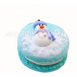 Макарони на новый год со снеговиком