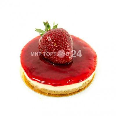 Радуйте себя и близких вкусным пирожным Пирожное Чизкейк Нью-Йорк с клубникой