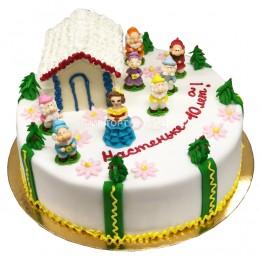 Торт детский Белоснежка и семь гномов
