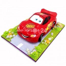 Торт детский молния маквин на дороге