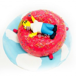 Торт детский Симпсон