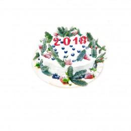 Торт на Новый 2018 Год  белый