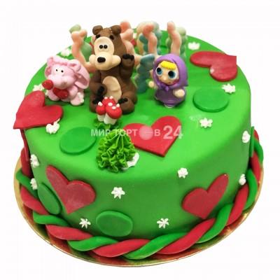 Заказать Торт детский Маша и медведь