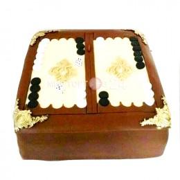 """Торт праздничный  квадратный """"Нарды"""""""