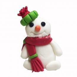 Фигурка Снеговика в шапке и шарфике