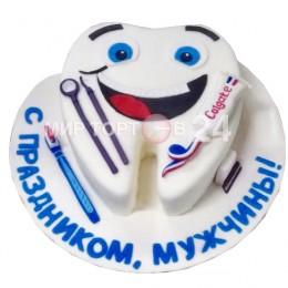Торт праздничный для мужчин в форме зуба