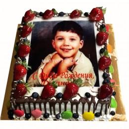 Торт детский квадратный с фотопечатью