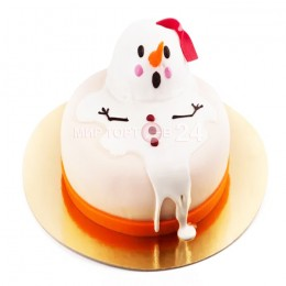 Торт на Новый Год  растаявший снеговик