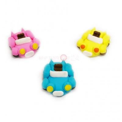 Сахарные фигурки Машинок различных цветов