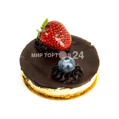 Радуйте себя и близких вкусным пирожным Пирожное Чизкейк Нью-Йорк с шоколадом и ягодами