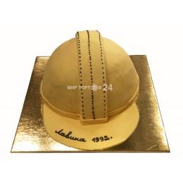Торт праздничный в форме строительной каски