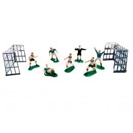 Сахарные фигурки Футболистов с футбольными вратами
