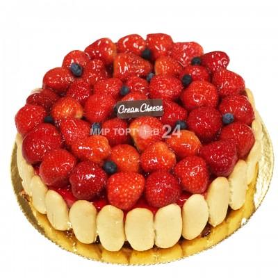 Порадуйте себя и близких вкусным тортом Кремчиз клубника