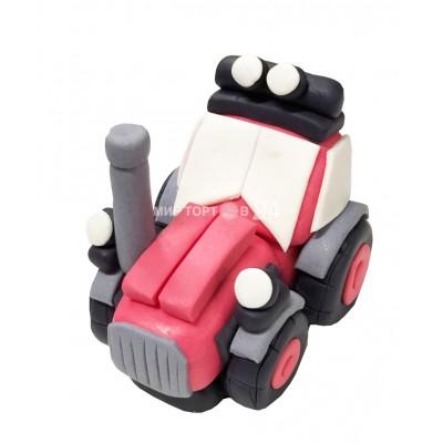 Фигура красный трактор