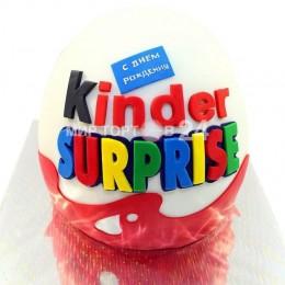Торт детский  в форме Киндер Сюрприза