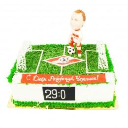 Торт праздничный на чемпионат мира с фигуркой футболиста