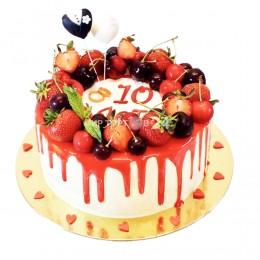 Торт праздничный на 10 лет совместной жизни