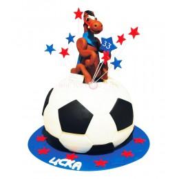 Торт праздничный на чемпионат мира по футболу с лошадью