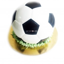 Торт праздничный на чемпионат мира в форме мяча