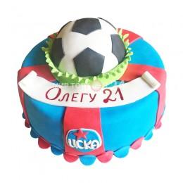 Торт праздничный на чемпионат мира с мячом