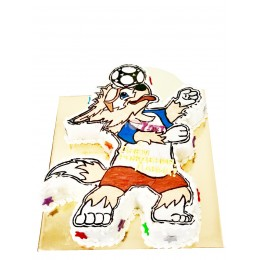 Торт праздничный  в форме символа чемпионата по футболу