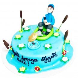 Торт рыбак 1