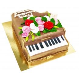 Торт праздничный в форме рояли