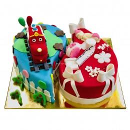 Торт детский для двойняшек