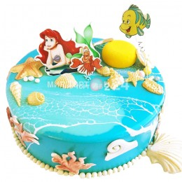 Торт детский русалочка с крабом