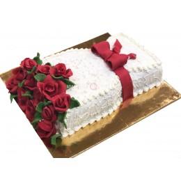 Торт  в форме букета цветов