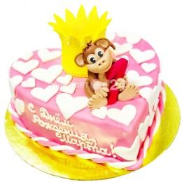 Торт детский с обезьянкой