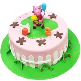Торт детский Свинка Пеппа с шариком