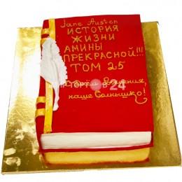 Торт праздничный в форме книги