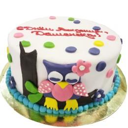 Торт детский с совой