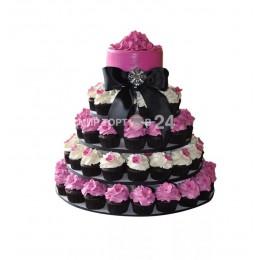 Торт свадебный с капкейками 3