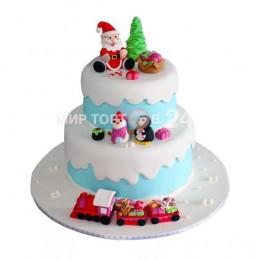 Торт детский на новый год