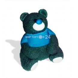 Сахарная фигурка Мишка в синей кофте